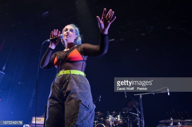 Janine Shilstone from Vukovi opens for One OK Rock at Le Bataclan on December 12, 2018 in Paris, France.