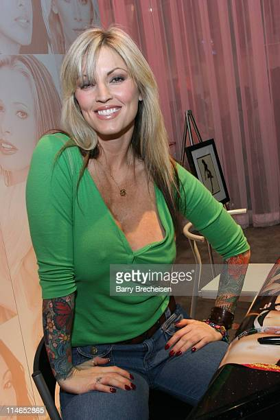 Janine signing at the Vivid Video booth during 2005 AVN Adult Entertainment Expo at Sand Expo Center in Las Vegas Nevada United States