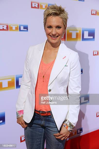 Janine Steeger attends the RTL Programm press conference Season 2012/13 on August 16 2012 in Cologne Germany