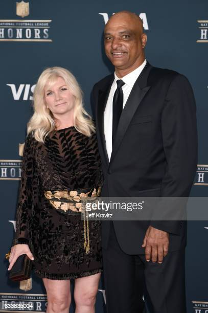 Janine Talley and former NFL player Darryl Talley attend 6th Annual NFL Honors at Wortham Theater Center on February 4 2017 in Houston Texas