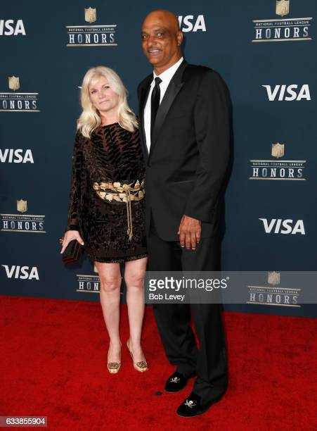 Janine Talley and former NFL player Darryl Talley attends 6th Annual NFL Honors at Wortham Theater Center on February 4 2017 in Houston Texas