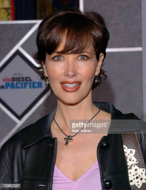 Janine Turner during The Pacifier Los Angeles Premiere Arrivals at The El Capitan in Hollywood California United States