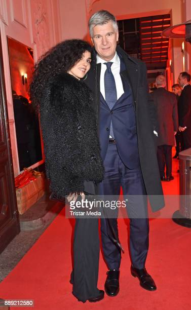Janine White and Andreas Rueter attend the Ein Herz Fuer Kinder Gala 2017 After Show Party at Borchardt Restaurant on December 9 2017 in Berlin...