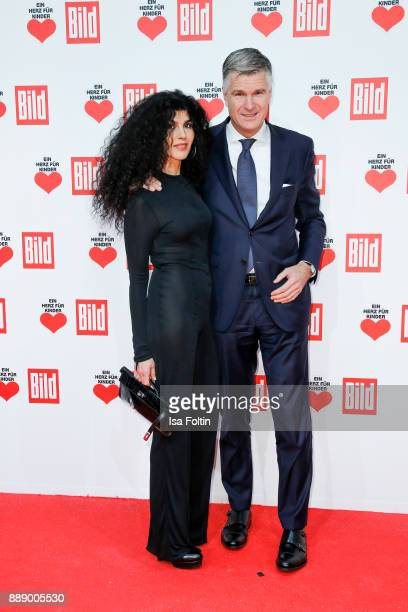 Janine White and guest attend the 'Ein Herz fuer Kinder Gala' at Studio Berlin Adlershof on December 9 2017 in Berlin Germany