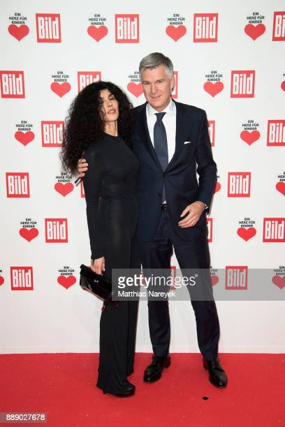 Janine White and guest attend the Ein Herz Fuer Kinder Gala at Studio Berlin Adlershof on December 9 2017 in Berlin Germany