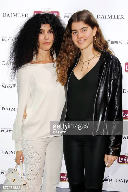 Janine White and her daughter Gloria White during the presentation of the new Lambertz calendar 2018 at Friedrichstadtpalast on November 22 2017 in...