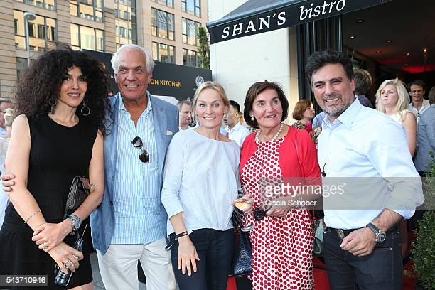 Janine White Donald Hellstedt Claudia Pepper wife of Shan Rahimkhan and her mother Carin PepperHellstedt and Shan Rahimkhan during the MasterCard...