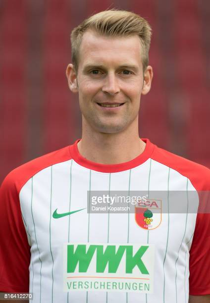 JanIngwer CallsenBracker of FC Augsburg poses during the team presentation at WWK Arena on July 17 2017 in Augsburg Germany