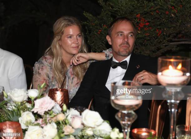 Janinia Thalin and Absolut Elyx CEO Jonas Tahlin celebrate the wedding of Nick Ede and Andrew Naylor in Los Angeles at the private residence of Jonas...