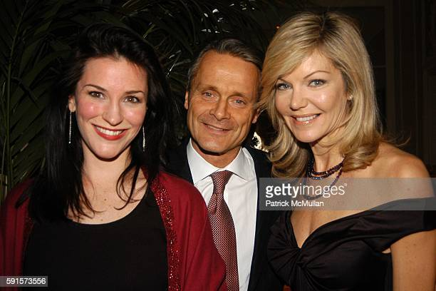 Janis Gardner Cecil Charles Cecil and Julie Hayek attend Janna Bullock's Holiday Musicale at The Home of Janna Bullock on December 13 2005 in New...