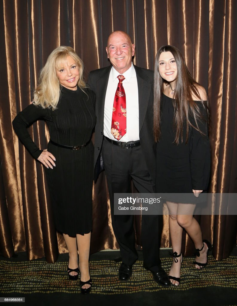 Janis Gardner, Panacea Entertainment Chairman and CEO and honoree Eric Gardner and Nathalie Gardner attend the 2017 Personal Managers Hall of Fame induction ceremony at the Downtown Grand Hotel & Casino on May 18, 2017 in Las Vegas, Nevada.