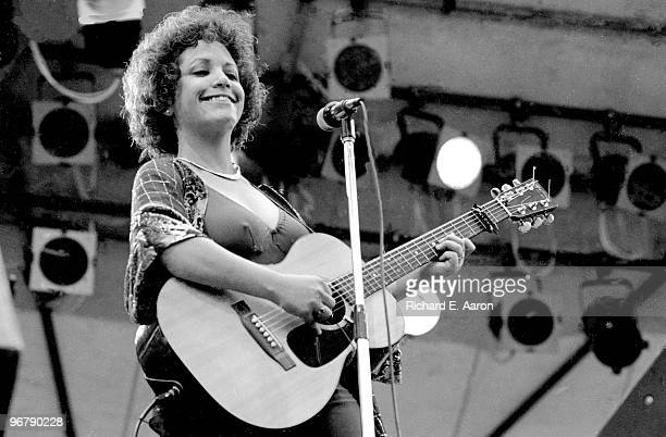 Janis Ian performs live on stage in New York in 1975