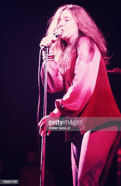 Janis Joplin performs during a concert at Madison Square Garden on December 19 1969 in New York City New York