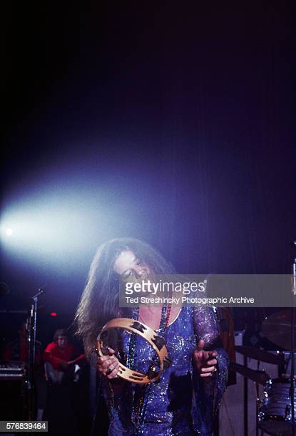 Janis Joplin performs with her band Big Brother and the Holding Company during the International Pop Festival in Monterey California in 1967