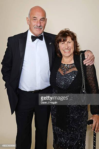 Janis Seaton and a guest attend the Amy Winehouse Foundation Gala at The Savoy Hotel on October 15 2015 in London England