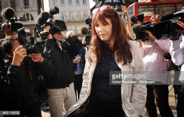 Janis Sharp mother of British computer expert Gary McKinnon arrives at the High Court where he was bidding to avoid extradition to America where he...