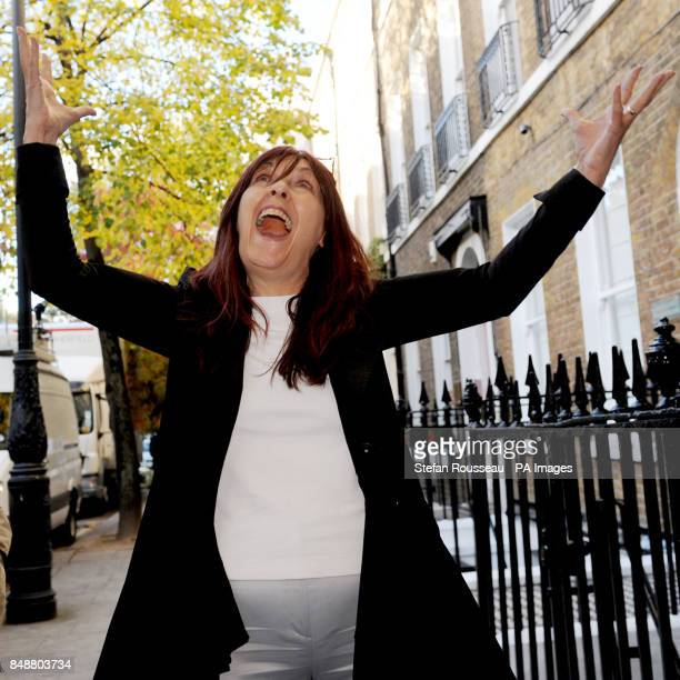 Janis Sharp mother of Gary McKinnon arrives for a press conference at her solicitors in London today