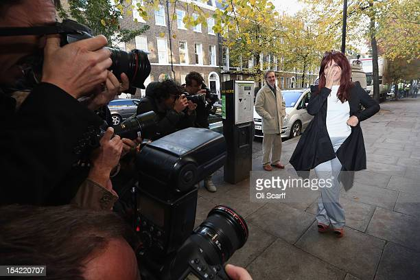 Janis Sharp the mother of British computer hacker Gary McKinnon is photographed as she attends a press conference following a decision by Home...
