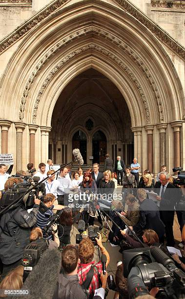 Janis Sharp the mother of British hacker Gary McKinnon addresses the media outside the High Court after hearing that her son has lost his bid to...
