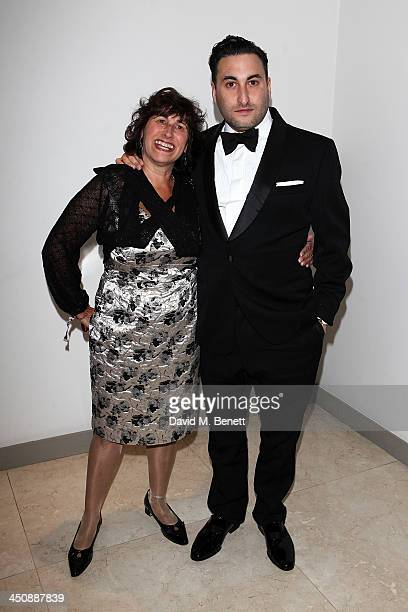 Janis Winehouse and Alex Winehouse attend the Amy Winehouse Foundation Ball at the Dorchester Hotel on November 20 2013 in London England