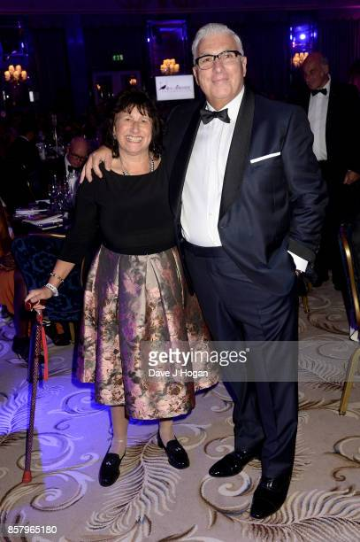 Janis Winehouse and Mitch Winehouse attend the Amy Winehouse Foundation Gala at The Dorchester on October 5 2017 in London England