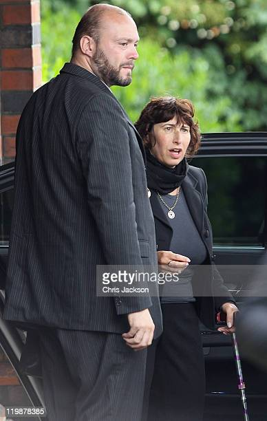 Janis Winehouse arrives for the cremation of Amy Winehouse at Golders Green Crematorium on July 26 2011 in London England
