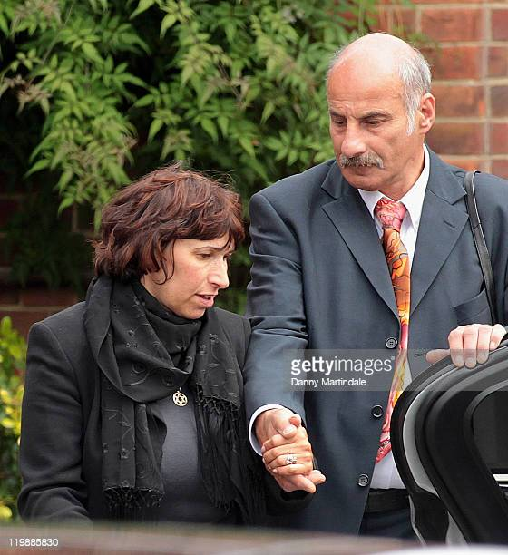 Janis Winehouse attends a service for the cremation of her daughter Amy Winehouse at Golders Green Crematorium on July 26 2011 in London England