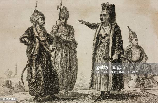 Janissaries Turkey engraving by Lemaitre Lalaisse and Chaillot from Turquie by Joseph Marie Jouannin and Jules Van Gaver L'Univers pittoresque Europe...