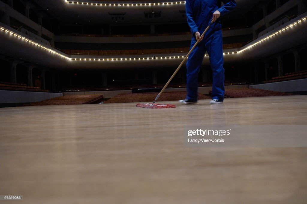 Image result for janitor sweeping stage