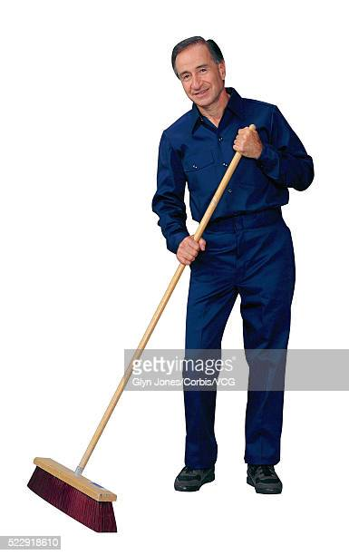 janitor sweeps the floor - janitor stock photos and pictures