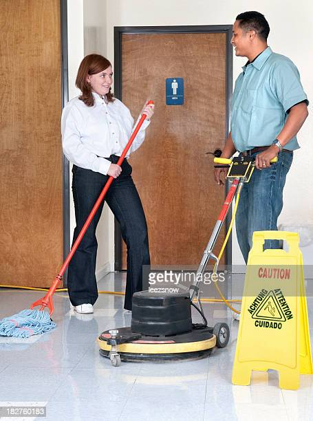 Janitorial Services - Man and Woman Talking