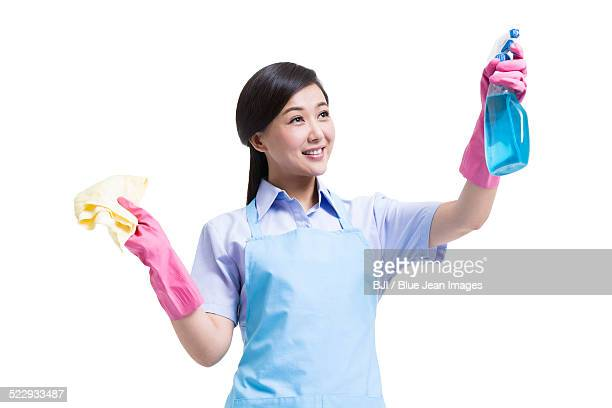 janitorial staff cleaning - janitorial supplies stock photos and pictures