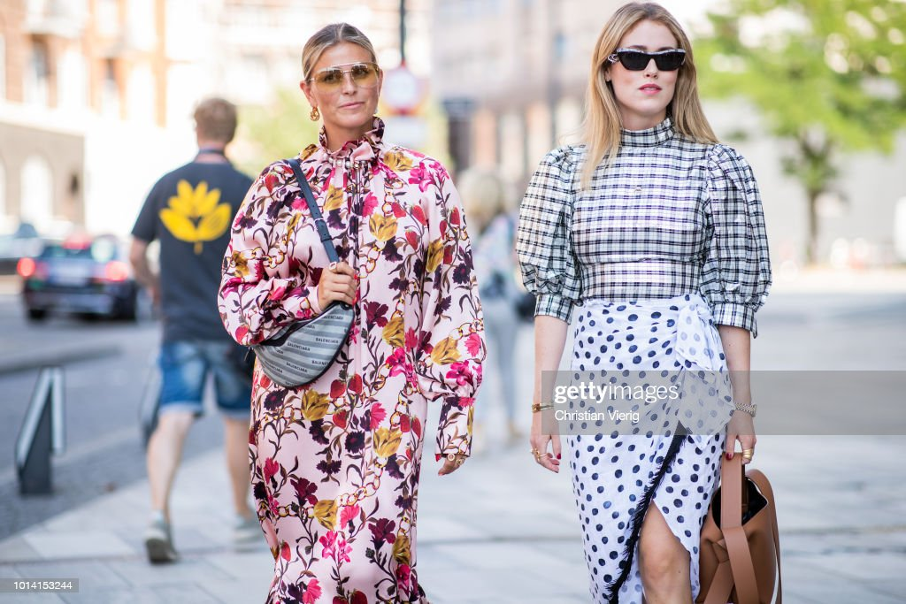 Street Style - Copenhagen Fashion Week Spring/Summer 2019 - Day 3 : Photo d'actualité