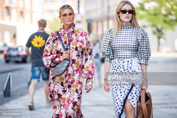Janka Polliani Annabel Rosendahl seen outside Designers Remix during the Copenhagen Fashion Week Spring/Summer 2019 on August 9 2018 in Copenhagen...