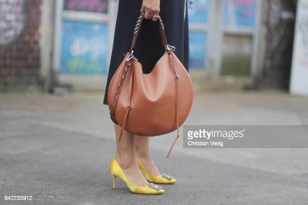 Janka Polliani purse detail during the Bread Butter by Zalando 2017 at arena Berlin on September 3 2017 in Berlin Germany