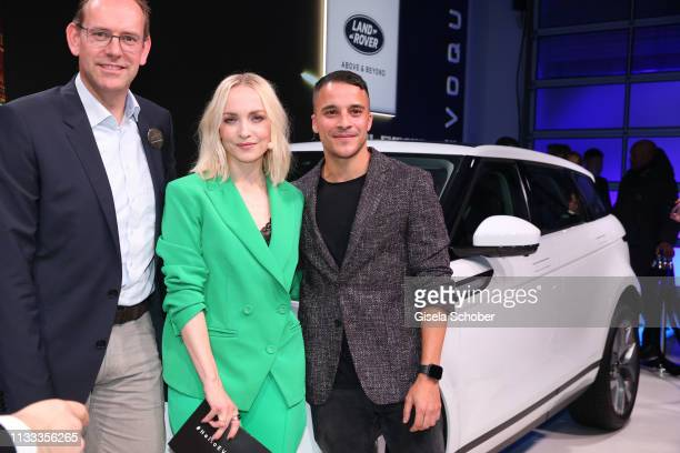 JanKas van der Stelt Managing Director Jaguar Land Rover JLR Germany Janin Ullmann and Kostja Ullmann during the presentation of the new Range Rover...
