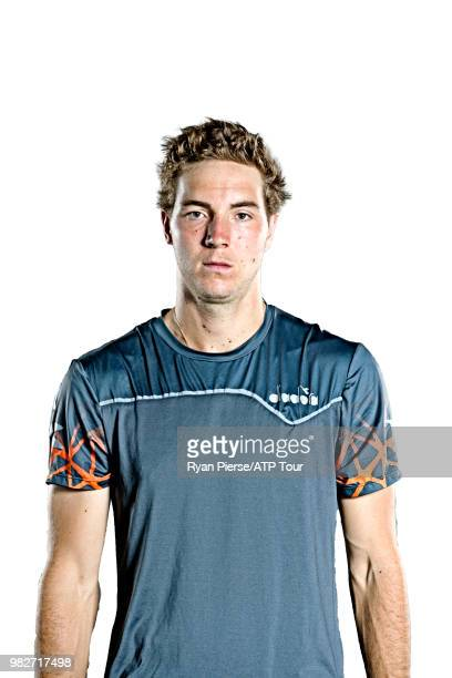 JanLennard Struff of Germany poses for portraits during the Australian Open at Melbourne Park on January 14 2018 in Melbourne Australia