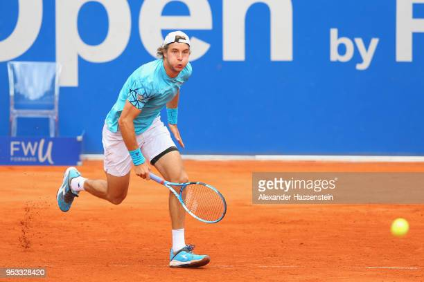 JanLennard Struff of Germany runs during his first round match against Daniel Masur of Germany on day 4 of the BMW Open by FWU at MTTC IPHITOS on May...