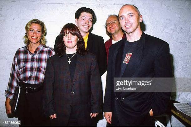 Jann Arden and band pose for a portrait at the Fine Line Music Cafe in Minneapolis Minnesota on June 22 1995