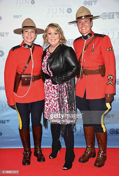 Jann Arden arrives at the 2016 Juno Awards at Scotiabank Saddledome on April 3 2016 in Calgary Canada