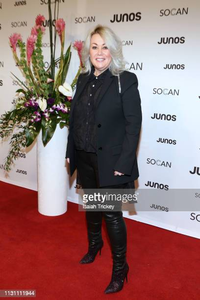 Jann Arden arrives on the red carpet for the 2019 Juno Gala Dinner and Awards at the London Convention Centre on March 16 2019 in London Canada