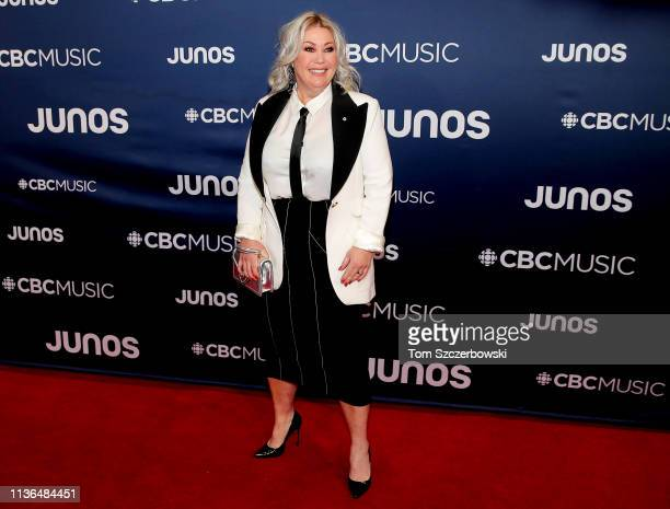 Jann Arden attends the 2019 Juno Awards Arrivals at Budweiser Gardens on March 17 2019 in London Canada