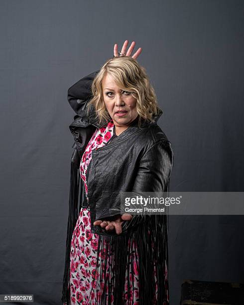 Jann Arden poses at the 2016 Juno Awards Portrait Studio at Scotiabank Saddledome on April 3 2016 in Calgary Canada