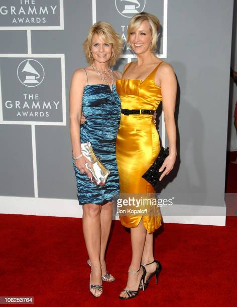 Jann Carl and Lara Spencer during The 49th Annual GRAMMY Awards Arrivals at Staples Center in Los Angeles California United States