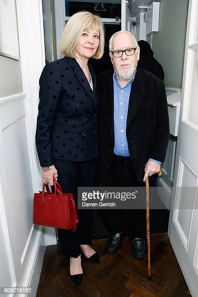 Jann Haworth and Peter Blake attend Vogue Voice of a Century book launch at Matches Fashion on September 20, 2016 in London, England.