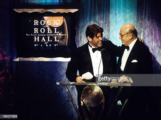 Jann Wenner and Ahmet Ertegun at the 10th Annual Rock & Roll Hall of Fame Induction ceremony in 1995.