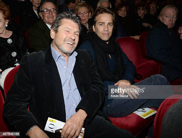 Jann Wenner and Matt Nye attend The Last Ship broadway opening night at Neil Simon Theatre on October 26 2014 in New York City