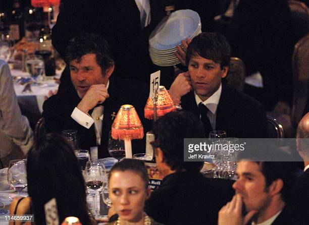 Jann Wenner and Matt Nye during 21st Annual Rock and Roll Hall of Fame Induction Ceremony Show at The WaldorfAstoria in New York City New York United...