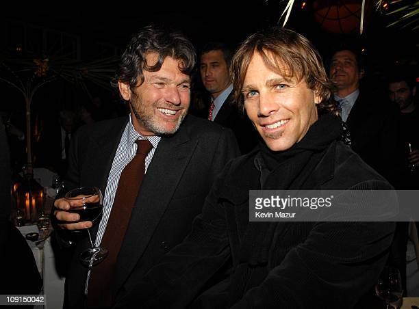 Jann Wenner and Matt Nye during Ahmet Ertegun Tribute After Party at The Boathouse Central Park in New York New York United States