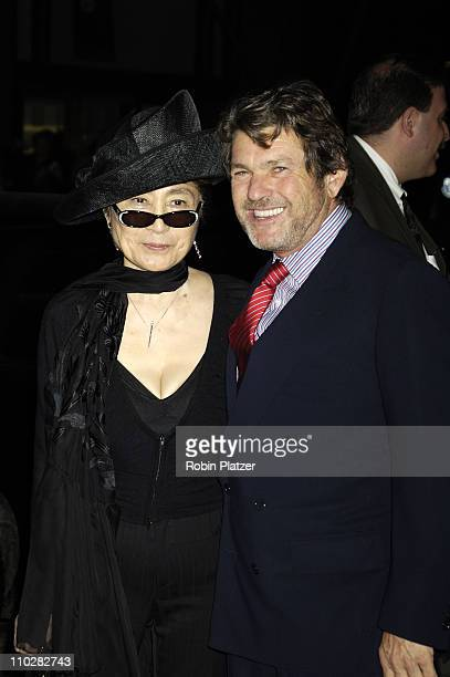 Jann Wenner and Yoko Ono during Cocktail Party for TRH The Prince of Wales and The Duchess of Cornwall at the Museum of Modern Art - November 1, 2005...